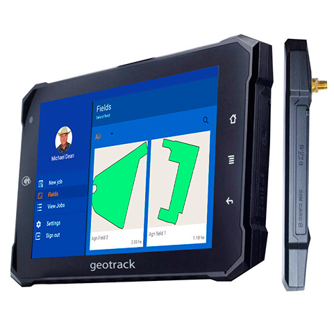 Reliable guidance system geotrack explorer new, parallel guidance system, area measurement, farm management system, agroprofile